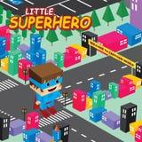 Het verbazende thema van de superhero isometrische wereld Stock Afbeelding