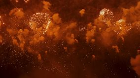 Het verbazende Vuurwerk toont stock footage