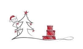 Het verbergen Kerstman Stock Fotografie