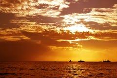 Het verbergen van de zon Royalty-vrije Stock Afbeelding