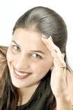 Het verbergen van haar gezicht Stock Fotografie