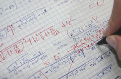 Het verbeteren van wiskunde stock foto