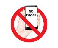 Het verbieden ondertekent Geen Telefoon vector illustratie