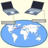 Het verbinden en netwerk Royalty-vrije Stock Foto's
