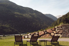 Het verblijf van Nice in de bergen Royalty-vrije Stock Foto