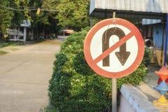 Het verbod ondertekent Geen u-Draai royalty-vrije stock afbeeldingen