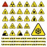 Het verbod ondertekent vector de waarschuwingsgevaarsymbool van de de industrieproductie verboden toegestaan de beschermings geen stock illustratie