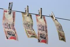 Het verbod op Rs 500, Rs 1000 nota's is chirurgische staking bij verschrikking de financiering, zwart geld Stock Fotografie
