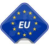 Het verbonden land van Europa kaart Stock Foto