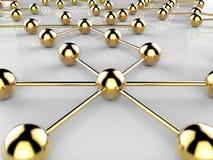 Het verbonden Netwerk wijst Web op Connectiviteit en communiceert stock illustratie