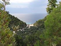 Het verborgen strand Stock Foto's