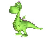 Het verdachte Beeldverhaal van de draak - Stock Foto