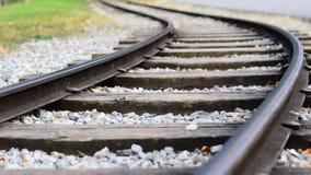 Het verdraaien van spoorweg Stock Afbeelding