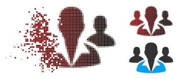 Het verdreven Pictogram van Pixel Halftone Klanten stock illustratie