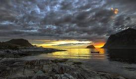 Het verdwijnen daglicht en een mooie zonsondergang Royalty-vrije Stock Afbeelding