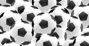 Het vereiste ball 3d de bal van de voetbalvoetbal geeft terug Royalty-vrije Stock Fotografie