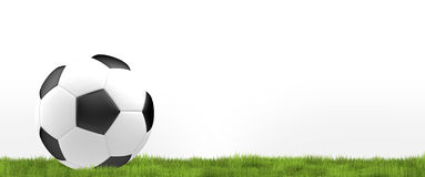 Het vereiste ball 3d voetbal de voetbal geeft balontwerp terug Royalty-vrije Illustratie