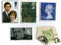 Uitstekende zegels Royalty-vrije Stock Foto's