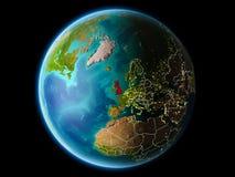 Het Verenigd Koninkrijk in de avond Royalty-vrije Stock Foto's