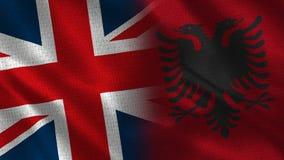 Het Verenigd Koninkrijk en Albanië royalty-vrije stock fotografie