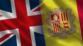 Het Verenigd Koninkrijk en Andorra royalty-vrije stock foto's