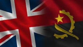 Het Verenigd Koninkrijk en Angola stock fotografie