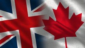 Het Verenigd Koninkrijk en Canada stock afbeeldingen