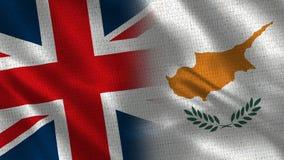 Het Verenigd Koninkrijk en Cyprus royalty-vrije stock foto's