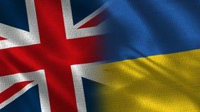 Het Verenigd Koninkrijk en de Oekraïne stock afbeelding