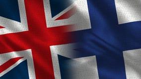 Het Verenigd Koninkrijk en Finland stock foto