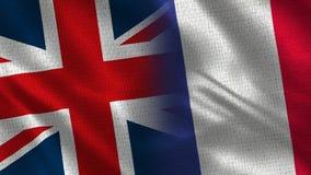 Het Verenigd Koninkrijk en Frankrijk stock foto