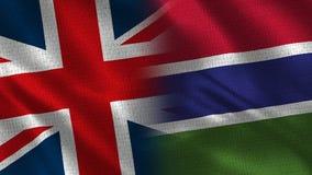Het Verenigd Koninkrijk en Gambia royalty-vrije stock afbeeldingen