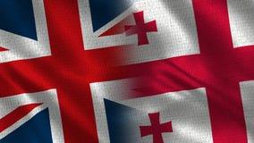 Het Verenigd Koninkrijk en Georgië royalty-vrije stock foto's