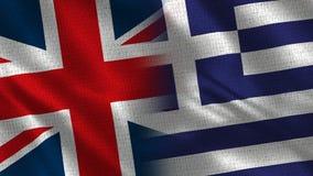 Het Verenigd Koninkrijk en Griekenland stock fotografie