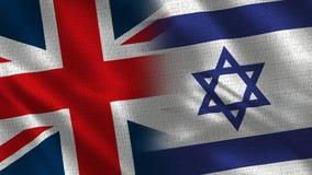 Het Verenigd Koninkrijk en Israël stock afbeeldingen