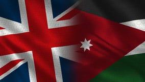 Het Verenigd Koninkrijk en Jordanië royalty-vrije stock foto