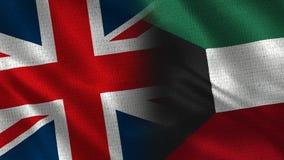 Het Verenigd Koninkrijk en Koeweit stock foto