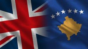 Het Verenigd Koninkrijk en Kosovo royalty-vrije stock afbeeldingen