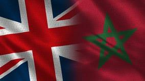 Het Verenigd Koninkrijk en Marokko royalty-vrije stock afbeeldingen