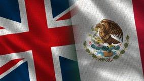 Het Verenigd Koninkrijk en Mexico stock afbeelding