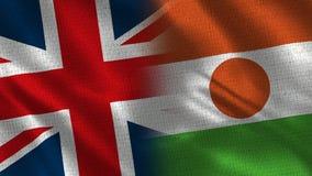 Het Verenigd Koninkrijk en Niger stock afbeelding
