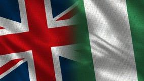 Het Verenigd Koninkrijk en Nigeria stock fotografie