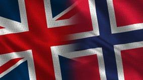 Het Verenigd Koninkrijk en Noorwegen royalty-vrije stock fotografie