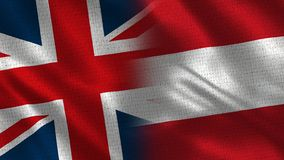 Het Verenigd Koninkrijk en Oostenrijk stock afbeeldingen