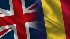 Het Verenigd Koninkrijk en Roemenië stock foto's