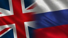 Het Verenigd Koninkrijk en Rusland stock foto