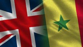 Het Verenigd Koninkrijk en Senegal stock foto