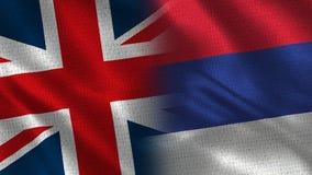 Het Verenigd Koninkrijk en Servië stock afbeelding