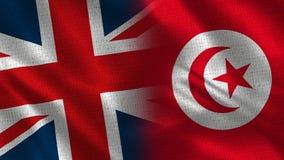 Het Verenigd Koninkrijk en Tunesië royalty-vrije stock foto