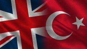 Het Verenigd Koninkrijk en Turks royalty-vrije stock afbeeldingen